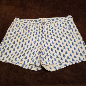 J.Crew strech printed shorts size 6